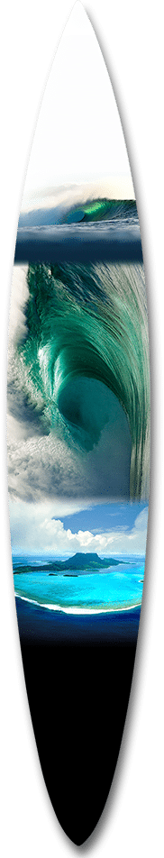 Emerald Waimea Collage Big Wave Gun