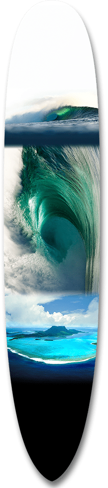 Emerald Waimea Collage Long Board