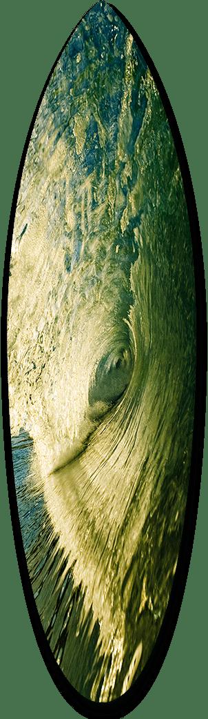 Green Tube Del Mar Short Board