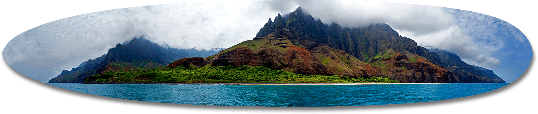 Na Pali Coastline, Kauai Long Board