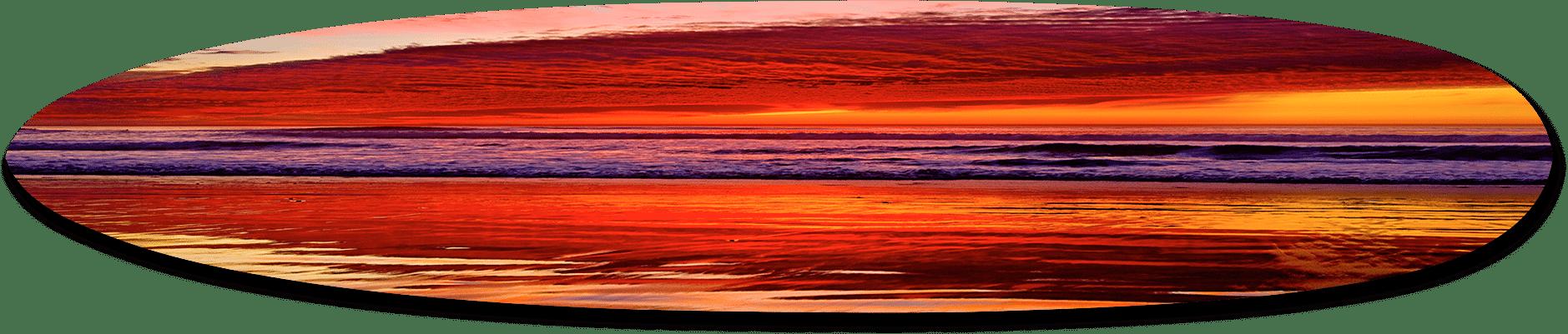Seaside Sunset, California Long Board