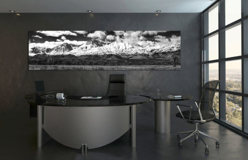 Eastern Sierras Pano Black & White