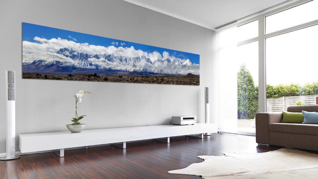 Eastern Sierra Pano, modern living room