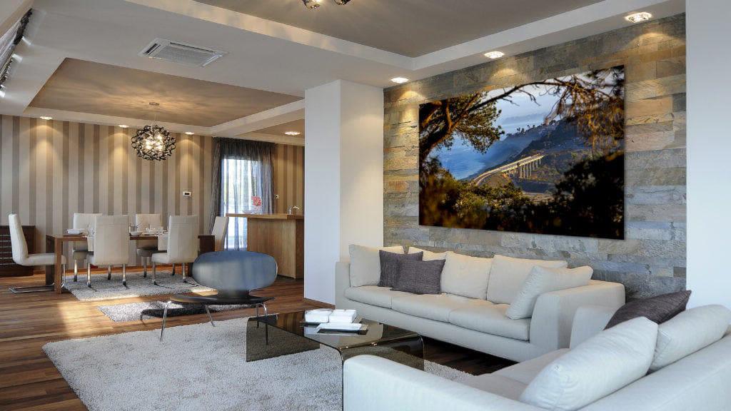 Bridge at Torrey Pines, modern Living Room