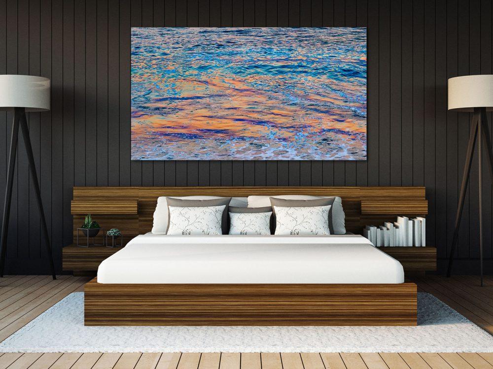 Opalescent over headboard in Bedroom